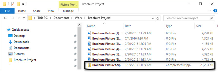all large attachments now compressed into a zip file