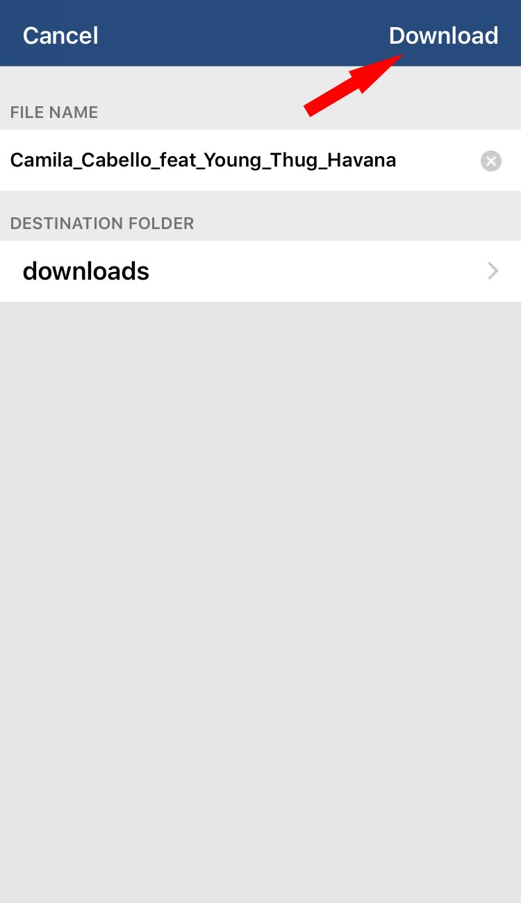 Download location on Total downloader app