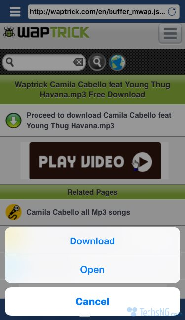download havana by camila Cabello to iPhone